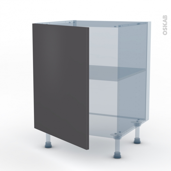GINKO Gris - Kit Rénovation 18 - Meuble sous-évier  - 1 porte - L60xH70xP60