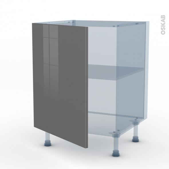 STECIA Gris - Kit Rénovation 18 - Meuble sous-évier  - 1 porte - L60xH70xP60