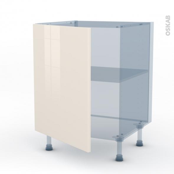 KERIA Ivoire - Kit Rénovation 18 - Meuble sous-évier  - 1 porte - L60xH70xP60