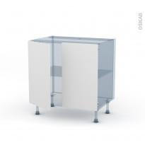GINKO Blanc - Kit Rénovation 18 - Meuble sous-évier - 2 portes - L80xH70xP60