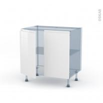 IPOMA Blanc brillant - Kit Rénovation 18 - Meuble sous-évier  - 2 portes - L80xH70xP60