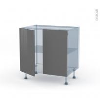 STECIA Gris - Kit Rénovation 18 - Meuble sous-évier  - 2 portes - L80xH70xP60