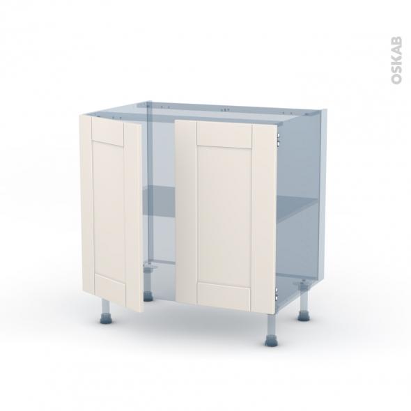 FILIPEN Ivoire - Kit Rénovation 18 - Meuble sous-évier  - 2 portes - L80xH70xP60