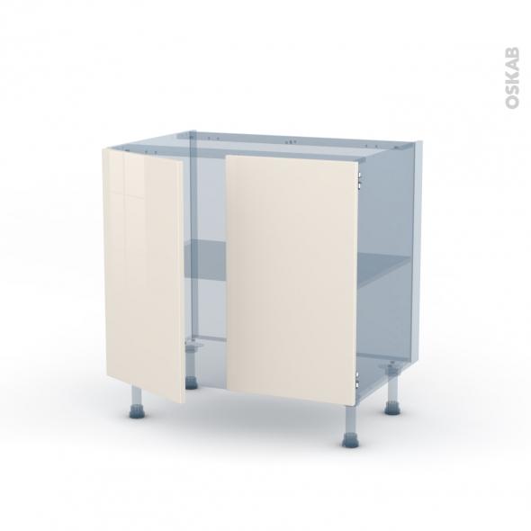 KERIA Ivoire - Kit Rénovation 18 - Meuble sous-évier  - 2 portes - L80xH70xP60