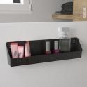 Panier de rangement - Meuble de salle de bains - Gris anthracite - HAKEO