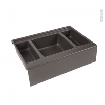 Rangement 3 bacs - Pour meuble prof 50 cm - HAKEO