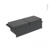 HAKEO - Rangement 2 boîtes avec couvercle - Pour meuble prof 40