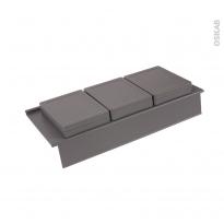Rangement 3 boîtes - Avec couvercle - Pour meuble prof 50 cm - HAKEO