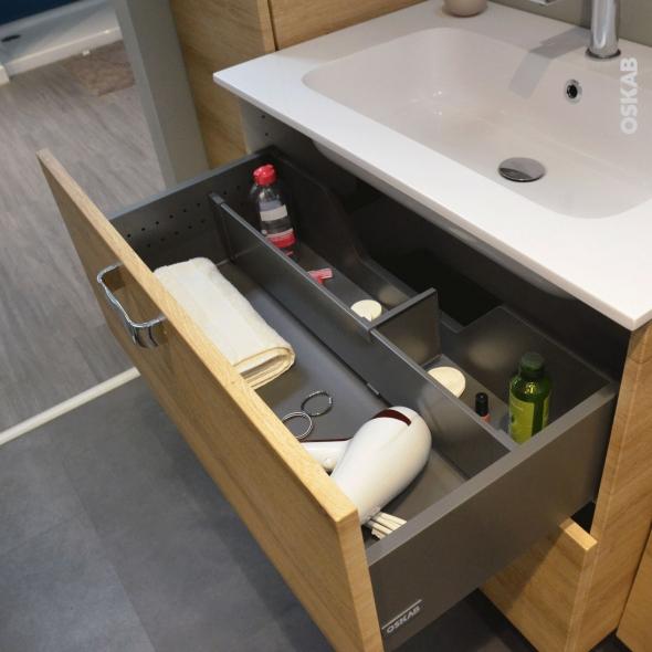 Kit séparateur tiroir - L80 cm - HAKEO