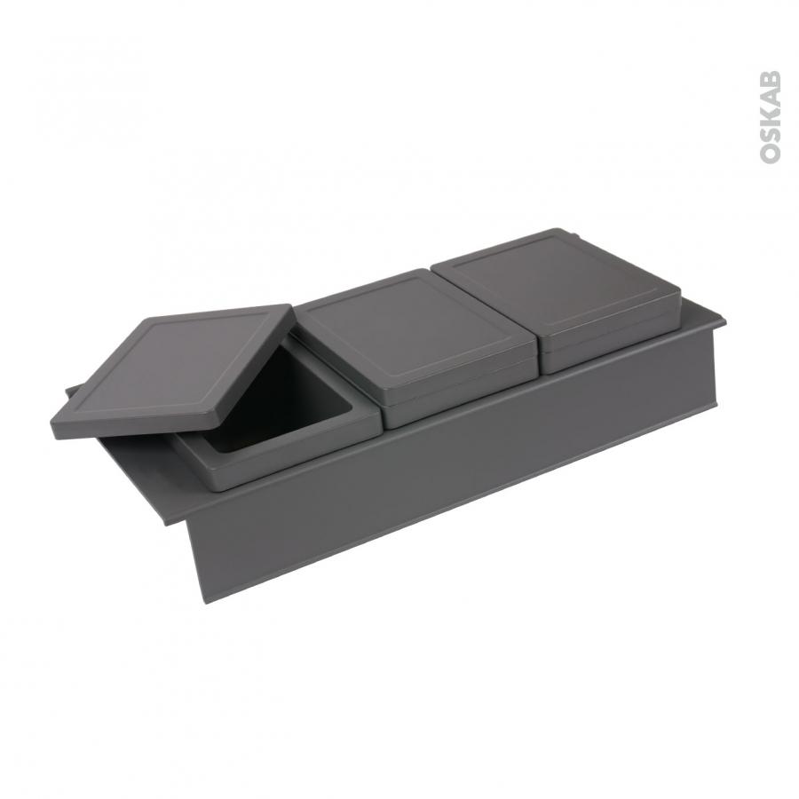 rangement 3 bo tes avec couvercle pour meuble prof 50 cm hakeo oskab. Black Bedroom Furniture Sets. Home Design Ideas