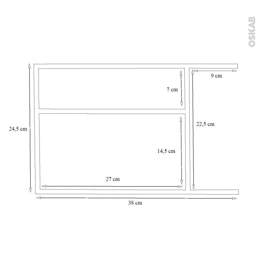 Structure de tiroir pour meuble prof 40 cm taille l hakeo for Meuble tiroir 30 cm