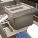 Kit poubelle tiroir bas - Pour meuble prof 50 cm - HAKEO
