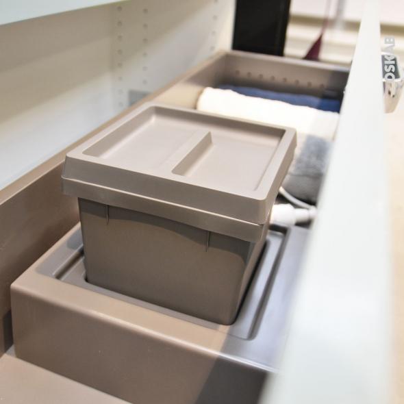 Kit poubelle tiroir bas - Pour meuble prof 40 cm - HAKEO
