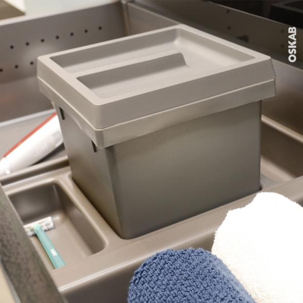 HAKEO - Kit poubelle tiroir bas - Pour meuble prof 50