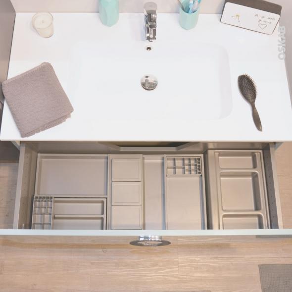 HAKEO - Organisateur de tiroir L100xP50 - Kit n°15