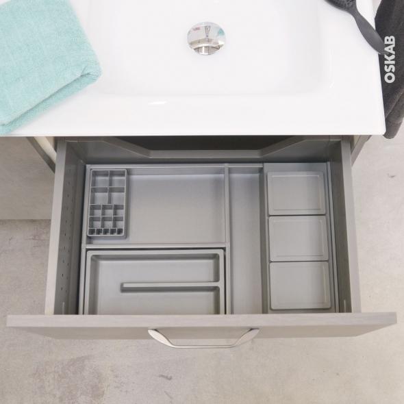 HAKEO - Organisateur de tiroir L60xP50 - Kit n°8