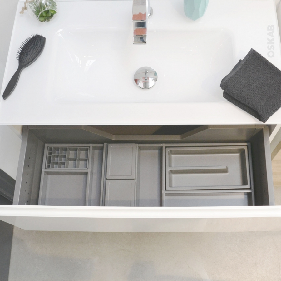organisateur de tiroir kit de rangement n 4 l80 x p40 cm hakeo oskab. Black Bedroom Furniture Sets. Home Design Ideas