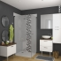 #GINKO Blanc - Meuble salle de bains N°671 - Double vasque VALA - 4 tiroirs Prof.40 - L120,5xH58,2xP40,5