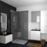 #Meuble de salle de bains - Sous vasque - IPOMA Blanc - 2 portes - Côtés décors - L80 x H57 x P50 cm