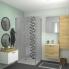 #Meuble de salle de bains - Plan vasque REZO - HOSTA Chêne Naturel - 2 tiroirs - Côtés blancs - L60,5 x H58,5 x P40,5 cm