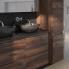 #Colonne de salle de bains - 2 portes - IPOMA Noyer - Côtés blancs - Version A - L40 x H182 x P40 cm