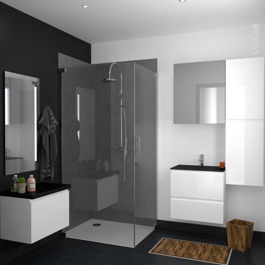 armoire de toilette rangement haut keria ivoire 1 porte miroir c t s d cors l60 x h70 x p17 cm. Black Bedroom Furniture Sets. Home Design Ideas