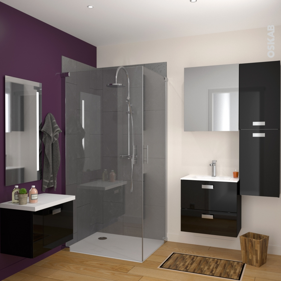 plan double vasque vala verre blanc l120 5xp50 5 oskab. Black Bedroom Furniture Sets. Home Design Ideas