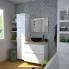 #IPOMA Blanc - Meuble sous vasque N°672 - Côté décor - Double vasque - 4 tiroirs prof.40 - L120xH57xP40