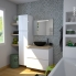 #IPOMA Blanc - Meuble salle de bains N°712 - Vasque EGEE - 2 portes Prof.40 - L100,5xH71,2xP40,5