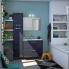 #Meuble de salle de bains - Rangement bas - STECIA Gris - 1 tiroir - L60 x H41 x P37 cm