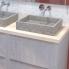 #Meuble de salle de bains - Sous vasque - HODA Béton - 2 tiroirs - Côtés décors - L60 x H70 x P40 cm
