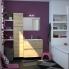 #IPOMA Chêne Naturel - Meuble salle de bains N°622 - Vasque REZO - 2 tiroirs Prof.40 - L60,5xH58,5xP40,5