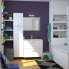 #Meuble de salle de bains - Sous vasque - GINKO Blanc - 2 tiroirs - Côtés décors - L100 x H57 x P50 cm