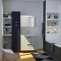 #Meuble de salle de bains - Sous vasque double - FAKTO Béton - 4 tiroirs - Côtés blancs - L120 x H57 x P50 cm