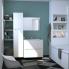 #Meuble de salle de bains - Plan vasque EGEE - PIMA Blanc - 2 portes - Côtés décors - L80,5 x H71,2 x P40,5 cm