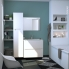 #PIMA Blanc - Meuble sous vasque N°631 - Côté blanc  - 2 tiroirs prof.40 - L80xH57xP40