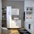 #Meuble de salle de bains - Sous vasque double - BORA Blanc - 4 tiroirs - Côtés décors - L120 x H70 x P40 cm