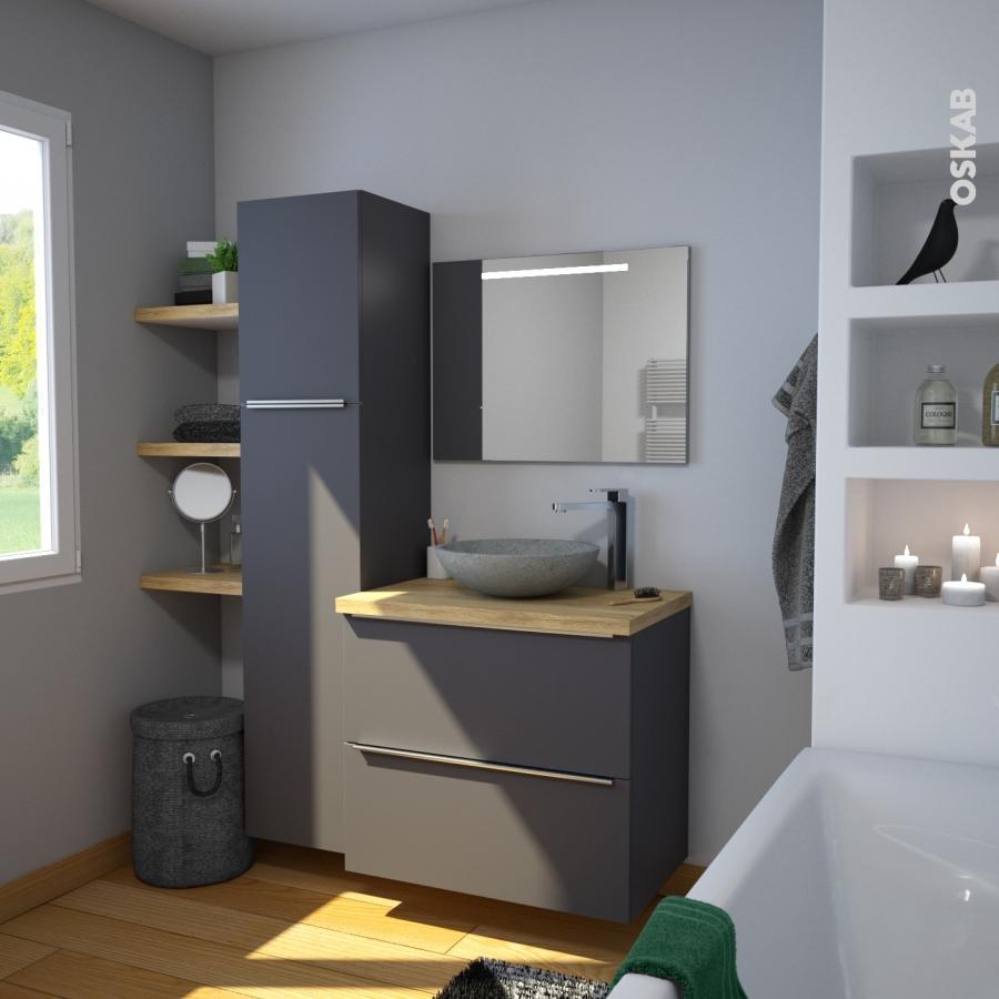 vasque salle de bains ricia a poser terrazzo gris b ton. Black Bedroom Furniture Sets. Home Design Ideas