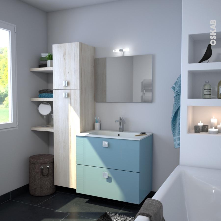 miroir de salle de bains simple ephis l120 x h60 cm oskab. Black Bedroom Furniture Sets. Home Design Ideas