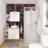 #Meuble de salle de bains - Sous vasque - GINKO Blanc - 2 tiroirs - Côtés décors - L80 x H70 x P50 cm