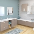 #Meuble de salle de bains - Rangement bas - KERIA Moka - 2 tiroirs 1 tiroir à l'anglaise - L40 x H70 x P37 cm