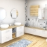 #Meuble de salle de bains - Rangement bas - IRIS Blanc - 4 tiroirs - L40 x H70 x P37 cm