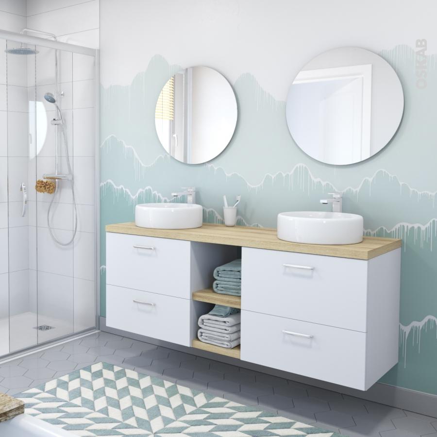 Colonne de salle de bains 2 portes ginko blanc c t s for Colonne salle de bain 4 portes