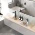 #Plan de toilette N°213 - Décor Chêne clair Ikoro - Stratifié - Chant coordonné - L60 x P50 x E3,8 cm - PLANEKO