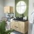 #Étagère de salle de bains murale alu - Gris anthracite - L60 x H35 x P35 cm