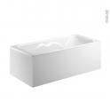 Tablier d'angle - Pour baignoire rectangulaire - 180x80 cm - FIX ALU - ALLIBERT