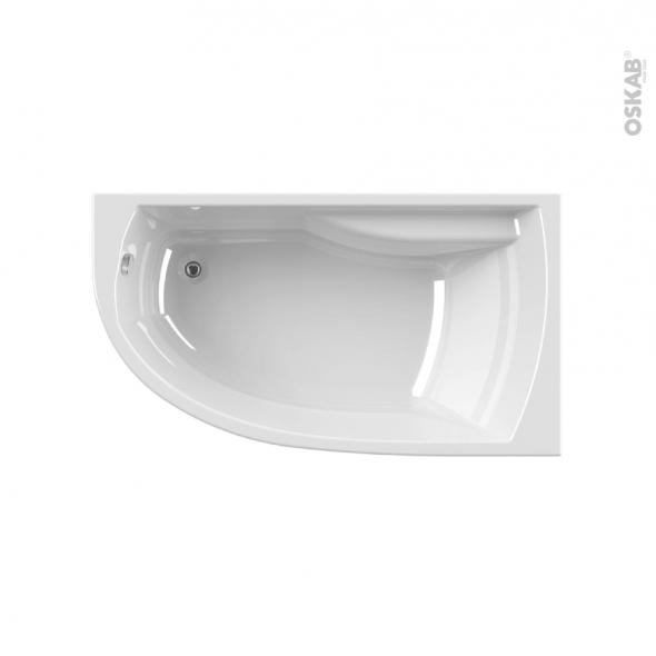 Baignoire - Asymétrique gauche - 160x90 cm - Acrylam - DIVA - ALLIBERT