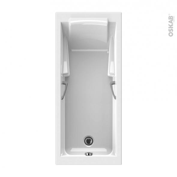 Baignoire - Rectangulaire - 170x70 cm - Puretex - LODGE - ALLIBERT