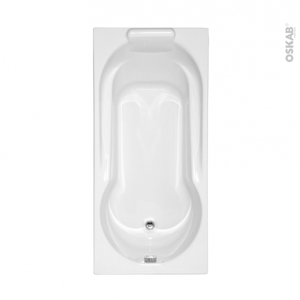 Baignoire - Rectangulaire - 160x75 cm - Toplax - ESSINA 2 - ALLIBERT