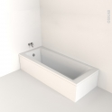 Baignoire - Rectangulaire - 170x70 cm - Acrylique renforcé - TAIO